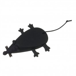 Mouse Door Stop in Black