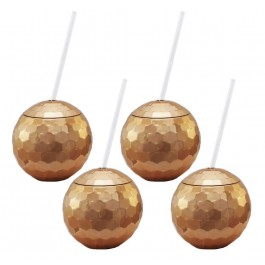 Copper Disco Drinking Ball Cups