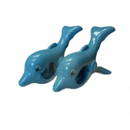 WIWO Pair of Animal Towel Clips - Dolphin