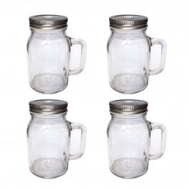 Unowall Glass Mason Jars (With Lids)