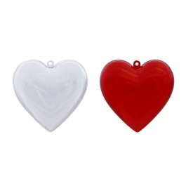 JfM Acrylic Heart Shape Bauble