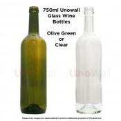 Unowall Glass Wine Bottles 750ml
