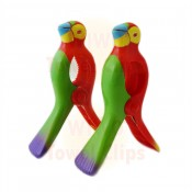 WIWO Pair of Animal Towel Clips - RED Parrot
