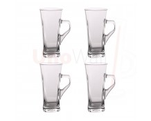 Unowall Geo Coffee Latte Glasses - 330ml