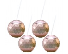 Rose Gold Disco Drinking Ball Cups