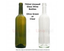 Unowall Glass Wine Bottles 750ml