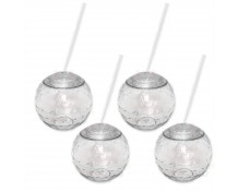 Clear Disco Drinking Ball Cups