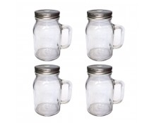 Unowall Glass Mason Jars (With Lids)