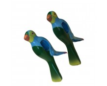 WIWO Pair of Animal Towel Clips - BLUE Parrot