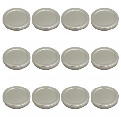 Pack of 12 Unowall Silver Milk Bottle Lid