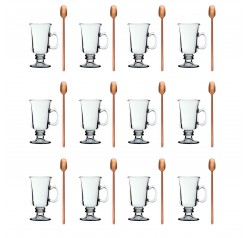 Unowall 12x Venezia Glasses with 12x Copper Spoons