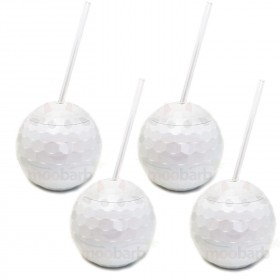 White Disco Drinking Ball Cups
