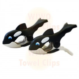 WIWO Pair of Animal Towel Clips - Whale