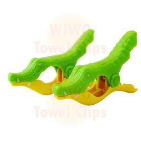 WIWO Pair of Animal Towel Clips - Crocodile