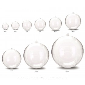 JfM Clear Acrylic Baubles