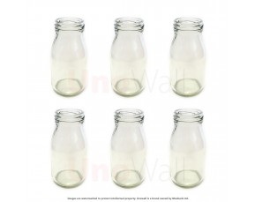 Unowall Glass Mini Milk Bottles (No Lids)